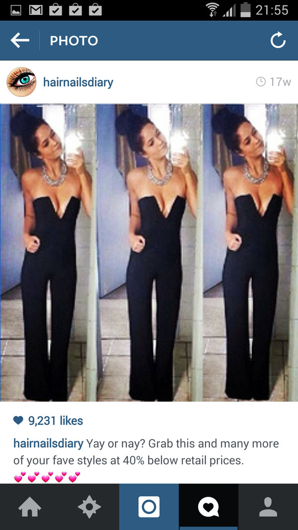 jumpsuit black playsuit black jumpsuit