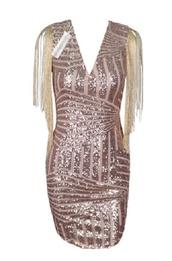 dress,fringes,shiny,sequins,sparkle,gold,mini,short