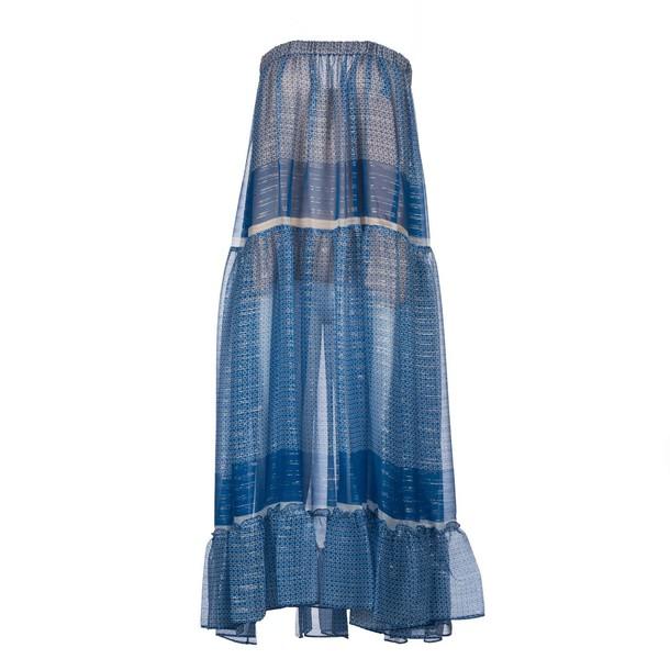 Stella McCartney skirt blue silk