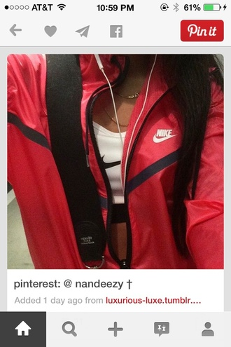 jacket nike air nike sweater nike jacket red coat black jacket striped shirt