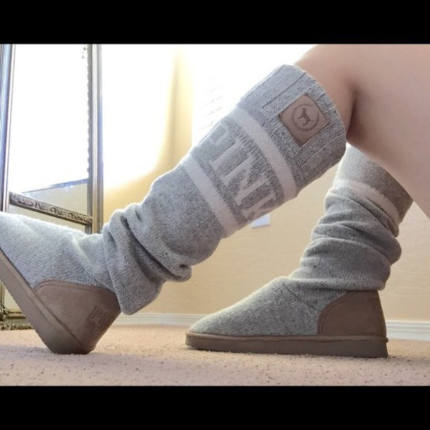 253b3fc9513 shoes victoria s secret pink by victorias secret socks boots grey boots