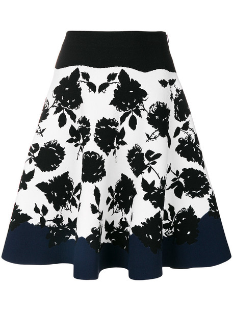 skirt women spandex floral black