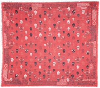skull scarf red