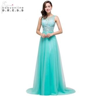 dress turquoise evening dress elegant evening dress a line evening dress prom dress evening dress long evening dress 2016 evening dresse aqua