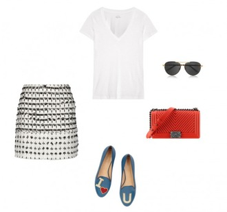 helena bordon blogger smoking slippers white t-shirt optical quilted bag