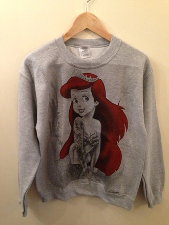 sweater ariel the little mermaid ariel