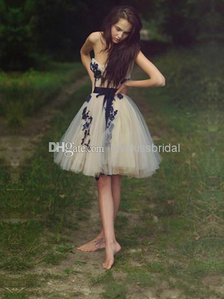 Cheap Short Homecoming Dresses - Discount 2014 New Charming Short a Line Homecoming Dresses Online with $102.62/Piece   DHgate