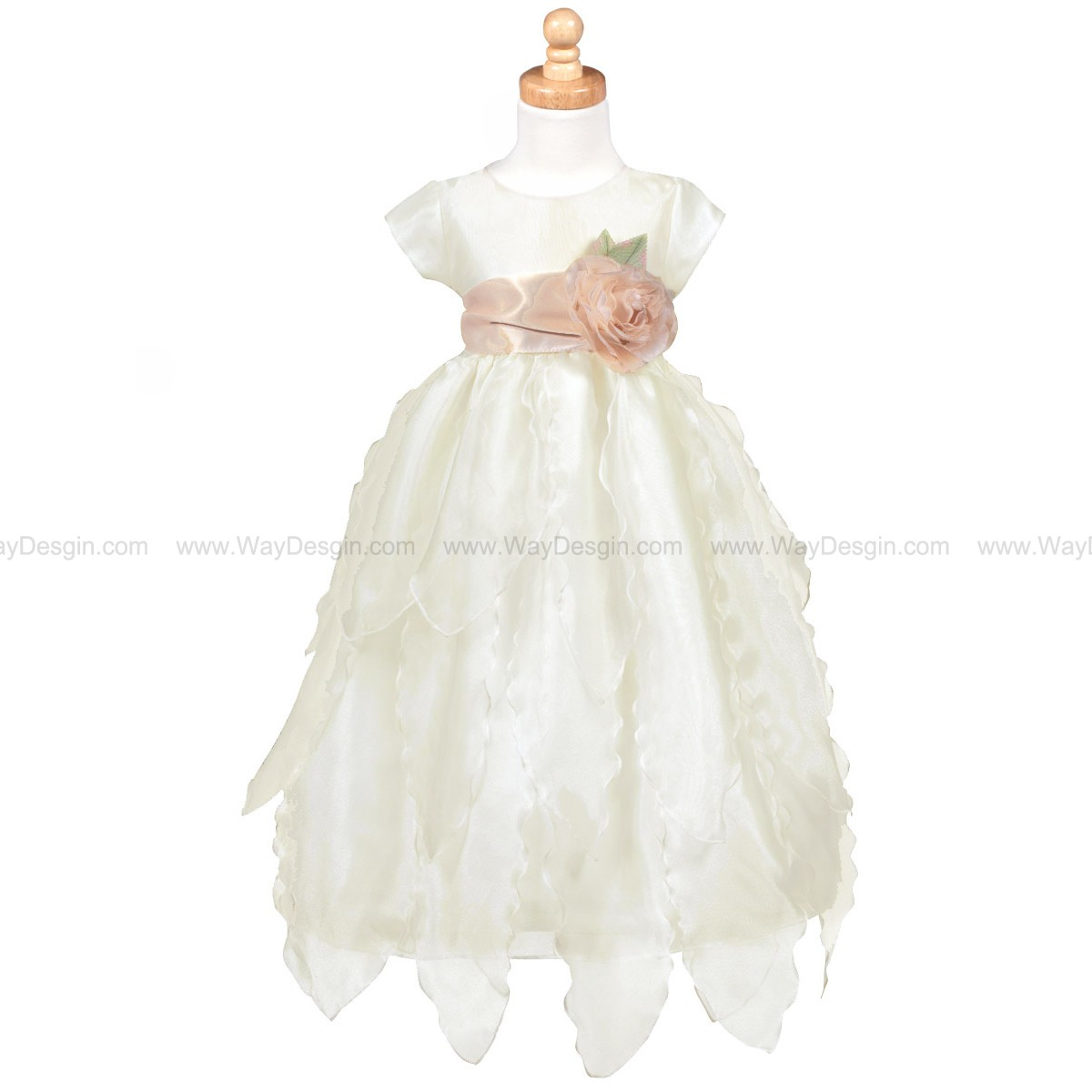 Blossom Ivory Organza Dress Petals Skirt