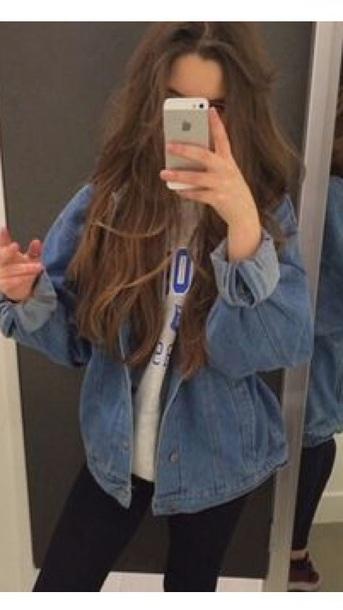 jacket denim oversized jacket