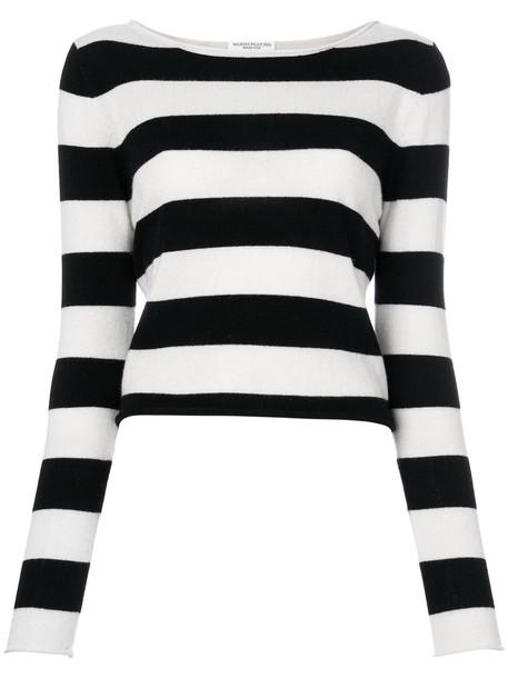 sweater striped sweater women white