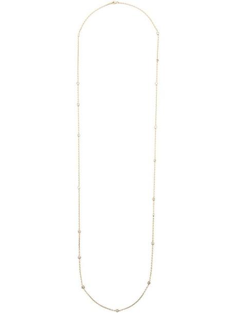 Kristin Hanson women necklace gold grey metallic jewels