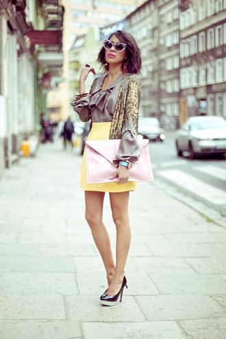jewels skirt shoes bag sunglasses shorts blouse belt macademian girl