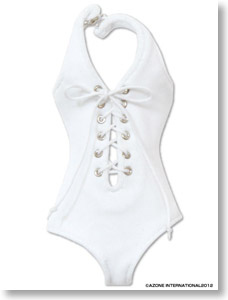PNM Swimsuit (Lace-up One-piece) (White) (Fashion Doll) Azone International Pureneemo Original Costume