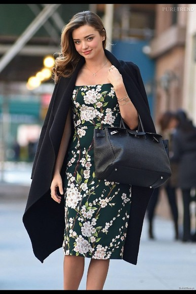 miranda kerr coat flower