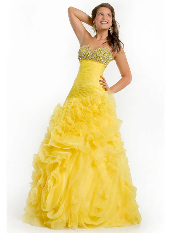 dress yellow weddijng dress