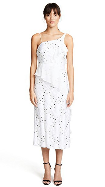Talulah dress midi dress midi floral white black