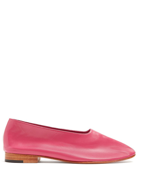 flats leather flats leather pink shoes