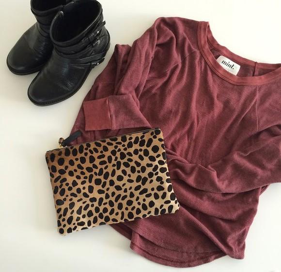burgundy top bag blogger mint the blog black boots