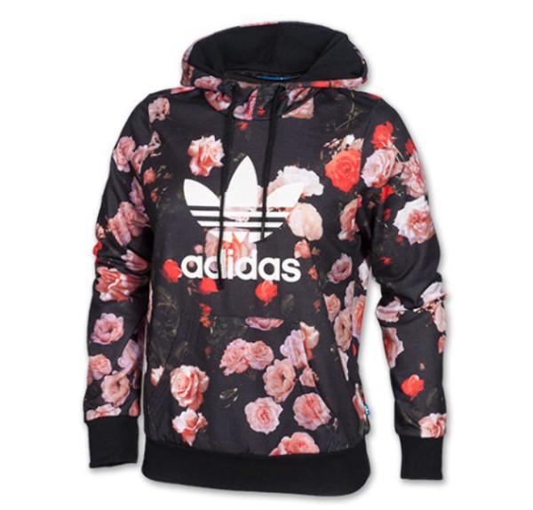 jacket floral hoodie adidas jacket menswear roses adidas