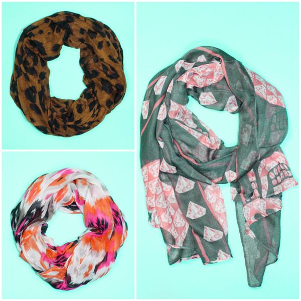 scarf scarves leopard print mint