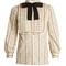 Rose-print cotton-blend blouse