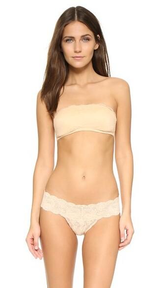 bra bandeau bra nude underwear