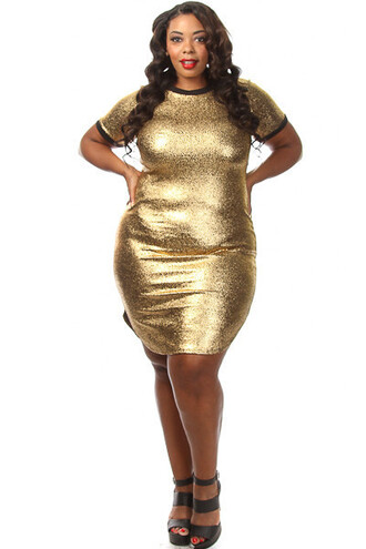 Gold Plus Size Dress - Shop for Gold Plus Size Dress on Wheretoget