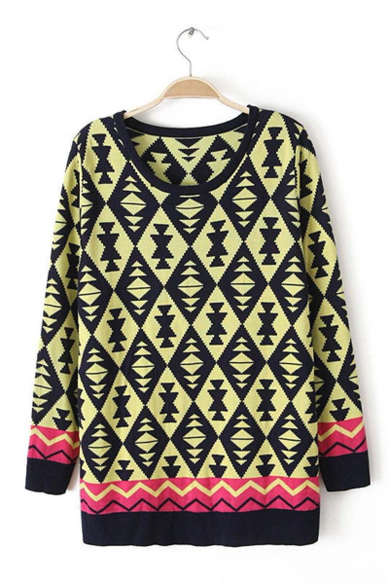 Autumn & Winter New Section Exotic Double Knitted Pullover Sweater,Cheap in Wendybox.com
