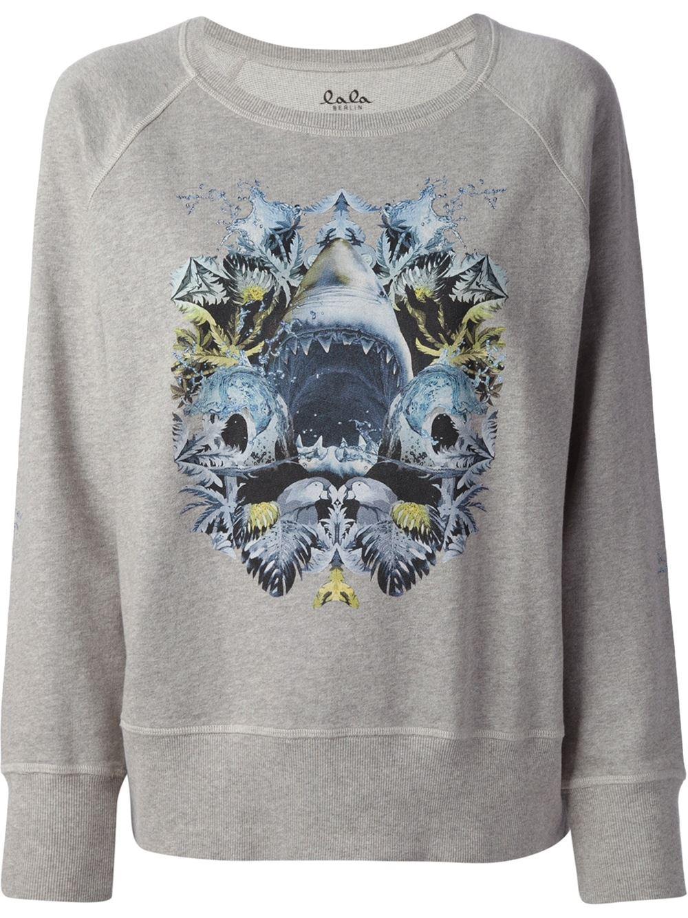 Lala Berlin Printed Shark Sweatshirt - Hayashi - Farfetch.com