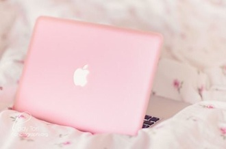home accessory light pink macbook pro 15 cover girly