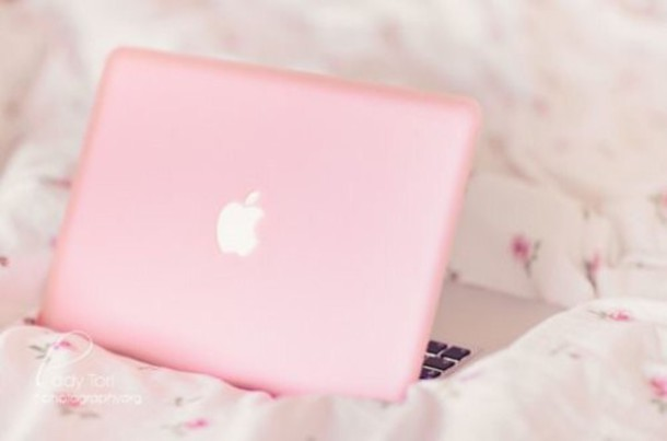 home accessory light pink macbook pro 15 cover girly pink