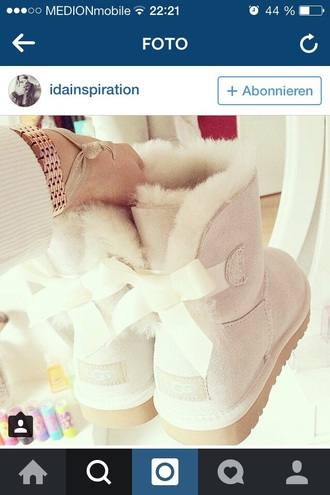 shoes ugg boots white bailey bow ugg australia cream