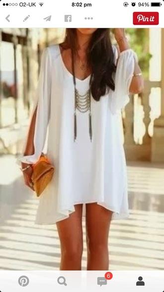 dress shor elegant white dress