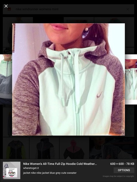 jacket nike mint running jacket