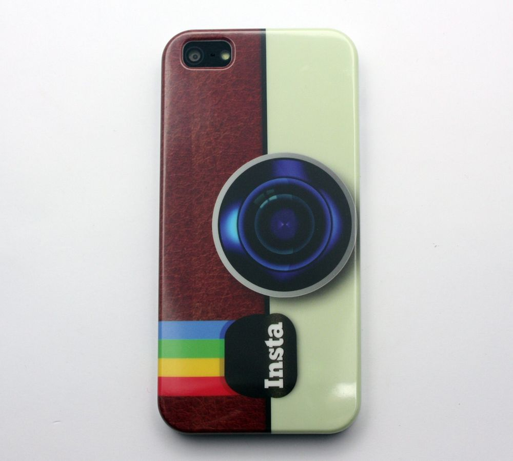 Instagram Camera Pattern Hard Cover Case For iPhone 5 iPhone 5S
