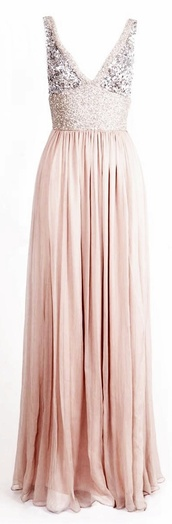 dress,nude,cream,long dress,sequins,glitter,prom dress,pink,long prom dress,sparkly dress,v neck,open back dresses,plunge v neck,light pink dress,beaded long dress,this dress? where can i buy it??,blush,wedding,style,blush pink,sparkle,pink dress
