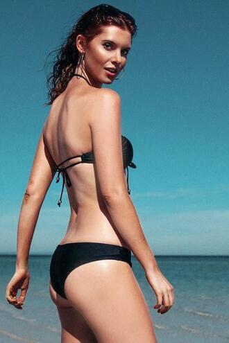 pants classic style bikini bottoms black cheeky robb and lulu bikini pant bikiniluxe