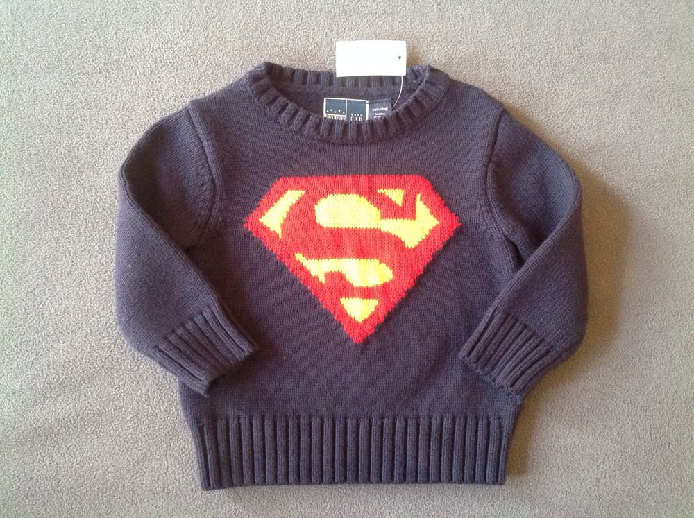 18 months junk food superman sweater
