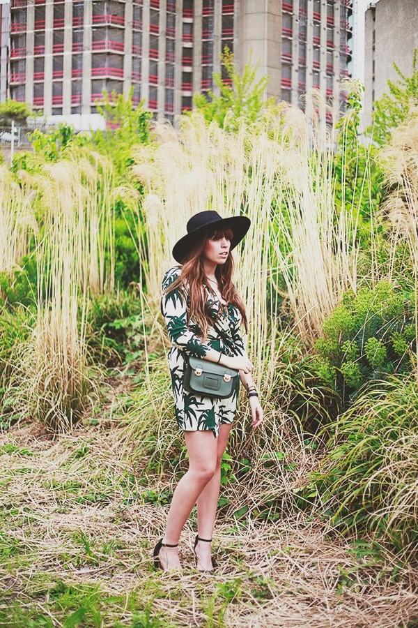fringe and frange shoes dress bag hat palm tree print