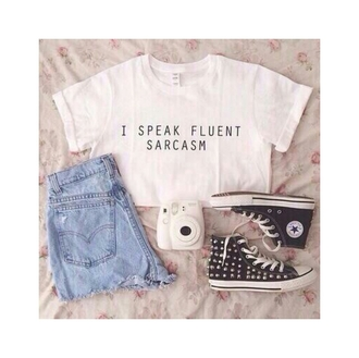 shorts t-shirt tank top shoes jewels