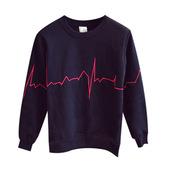 sweater,identity owl,sweatshirt,embroidered,heartbeat,black,fashion,streetstyle,streetwear