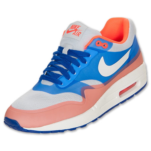 Women's Nike Air Max 1 Hyperfuse Premium Shoes | FinishLine.com | Pure Platinum/Sail/Hyper Blue/Total