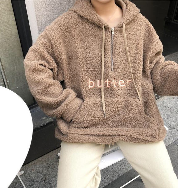 jacket girly wool wool sweater wool jacket zip hoodie oversized sweater oversized butter tumblr comfy