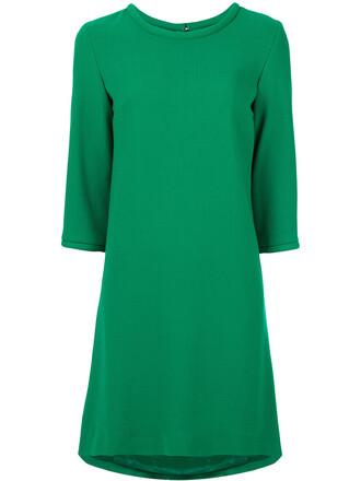dress women wool green