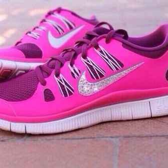 shoes pink glitter nike shoes glitter