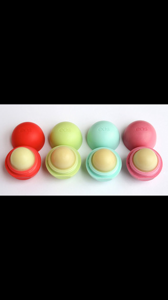make-up lip balm round eos