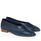 Navy kid leather glove shoes