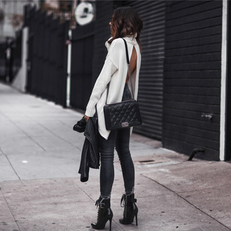 fashionedchic blogger jacket sweater jeans shoes underwear