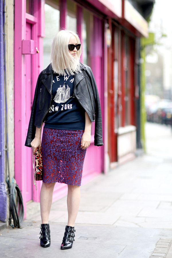 the fashion guitar shoes bag skirt sweater sunglasses