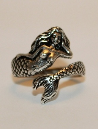 jewels ring jewelry mermaid the little mermaid silver ring nautical